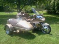 For sale 1988 Honda Gold wing with sidecar. 47,000