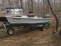 1988 JOHNSEN-14 FT FIBERGLASS 3 SEAT RUNABOUT/HAS SIDE