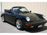 1988 Porsche 911 Carrera cabriolet. Triple black with