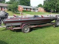 1988 procraft 1760v (17.5 ft) bass watercraft with a