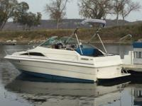 21 ' , double axel trailer , depth finder, bimini top,