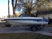 1988 sunbird corsair bow rider with trailer have title