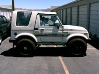 1988 Suzuki Samurai 4X4 white exterior with matching