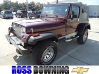350 V8 ENGINE, NEWLY RESTORED!! This 1988 Jeep Wrangler