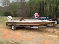 89 hydrasport 16' w/110 hp Johnson. Boat does require
