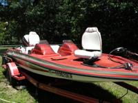 1989 17' Kingfisher bass boat w/ 1987 Yamaha 90 hp,