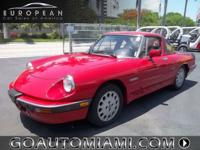 1989 Alfa Romeo Spyder Quadrifoglio. Red with Black