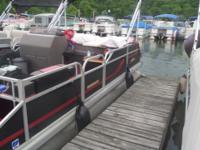 This 20Ft Pontoon Boat is in good condition. The motor