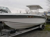 1989 28' Baja has a deep V hull and was repowered with