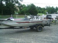 1989 Bass Tracker TX17 70hp Evinrude with tilt & trim