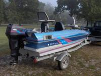 Great boat,50 hp force runs great,galvanized trailer