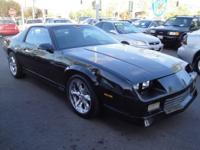 We are selling a 1989 Chevrolet Camaro RS. The RS comes