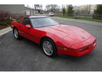 Nicely equipped Bright Red 1989 Corvette coupe with a
