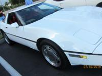 1989 Chevrolet Corvette ..Florida USA Car ..White