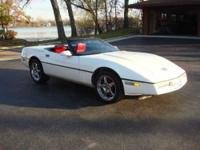 Very Nice and Sharp Corvette Glossy white on top of Red