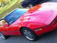 Blazing Crimson Red 89 All Original Vette In