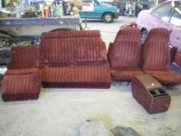 $150 Beautiful red velour cloth seats, 2 buckets with