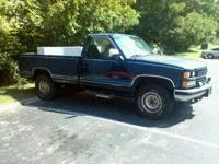 Up for sale is my blue 1989 Chevy Silverado 1500 4X4