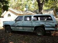 1989 Chevy 4 wheel drive Suburban that I want to part