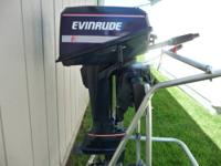 This is a 1989 Evinrude 6hp short shaft 2 stroke motor.