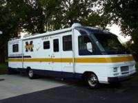 Completely customized University of Michigan RV. This
