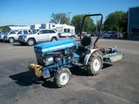 COMES WITH 42' REAR MOWER DECK The tractor is a diesel.