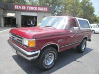 NICE BRONCO. XLT. 4x4. 5 speed. Local Trade in. This is