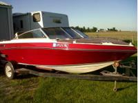 For sale 1989 four winns ski boat 18ft with trailer,