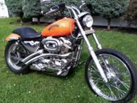 1989 sportster with newer model gas tank and rear