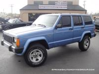 This Box Jeep Cherokee is 4x4 and is ready for you to