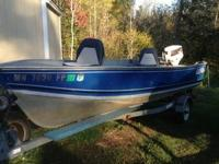 1989 Lund Rebel Special , 16' 40hp Johnson, trim and