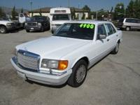 1989 Mercedes Benz 300 SEL Engine: 3.0L L6 SOHC 12V