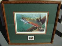 1989 Michigan Trout Stamp Print ~ By First Woman Artist