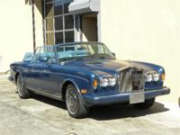 1989 Rolls-Royce Corniche convertible. Royal Blue with