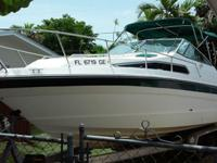 ,.,.1989 Sea Ray Sundancer with twin 4.3 Mercruiser gas