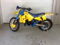 Vintage 1989 Suzuki RM 250 restored and Ready to Race!