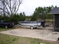 Hard to find dual purpose 16 ft. aluminum hull. Four