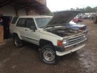 1989 Toyota 4Runner SR5 V6 4WD - J123 3.0L V6 OHV 12V