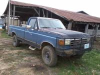 1989 Ford F250 pickup. It is a four wheel drive with