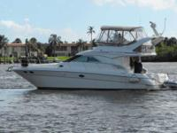2001 Sea Ray 40 SEDAN BRIDGE Only 352 hours on her 3126