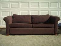 Heres a beautiful sleeper sofa in a deep rich plum. I