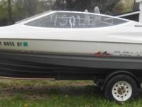1990 18ft Bayliner Runabout with 90 horsepower engine.