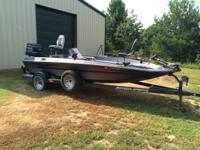 1990 18.5 hydro sport bass boat 150 evinrude motor. 2