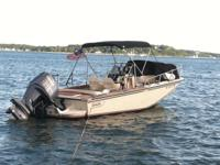 "Bimini leading stainless-steel frame and black ""Fortune"