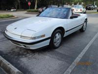 1990 Buick Reatta Conv., White/red interior, great