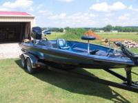Right here we have my personal 1990 Bullet bass boat