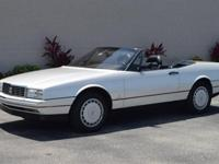 1990 Cadillac Allante finished in pearl white paint