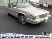 1990 Cadillac Fleetwood, Tan, Tan Leather Seat Trim,