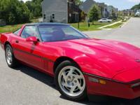 1990 EARLY-PRODUCTION ZR1 ENGINEERING CAR 1YO PEP CAR .
