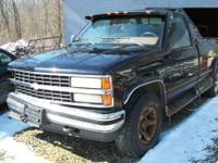 1990 4X4 CHEVY TRUCK RUNS REAL NICE (TRANS BAD) DEER